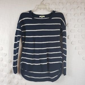 Madewell Navy & White Striped Sweater xs
